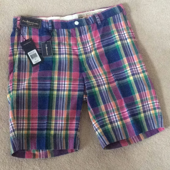 "Polo Ralph Lauren Shorts Blue Oxford Classic Fit 9/"" 30 32 33 34 NWT"